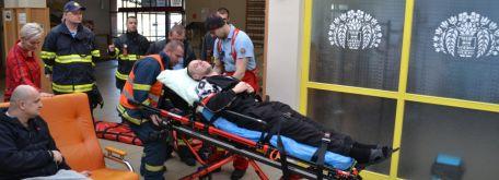 Cvičenie príslušníkov okresného riaditeľstva hasičského a záchranného zboru v CSS - Juh